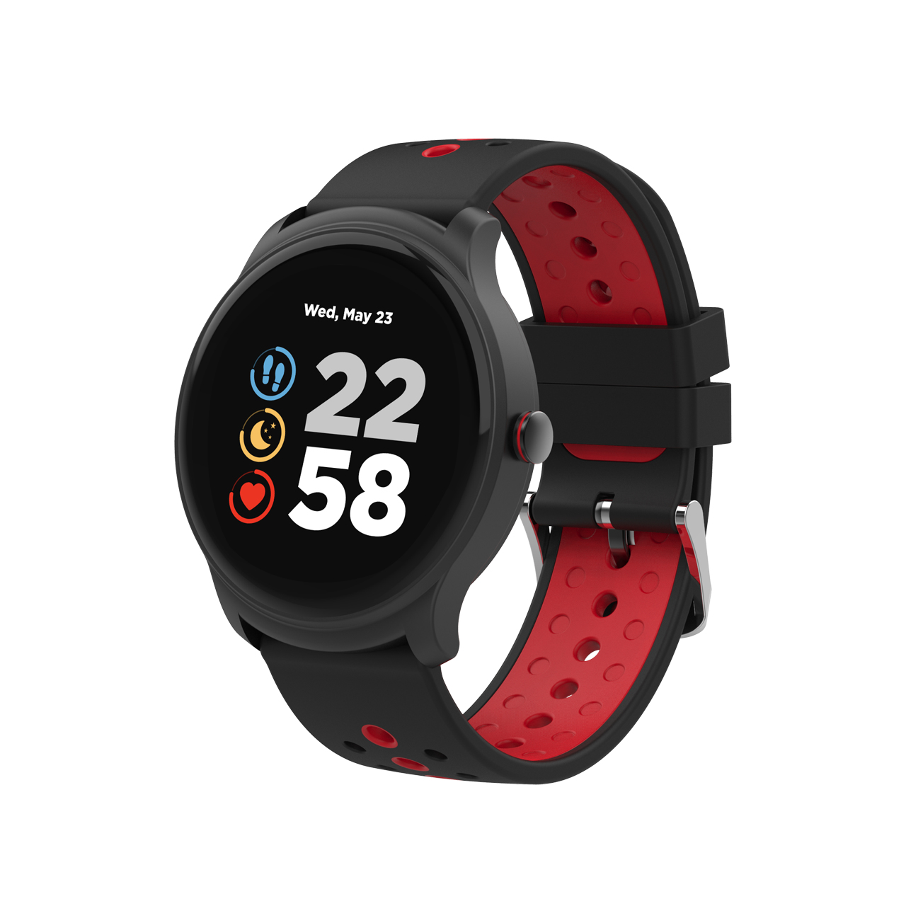 """Canyon CNS-SW81BR smartwatch IPS 3.3 cm (1.3"""") 44 mm Black, Red"""