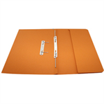 Rexel Jiffex Foolscap Transfer File With Pocket Orange (25)