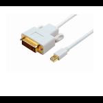 Microconnect Mini Displayport - DVI, M/M 2 m DVI-D White