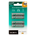 Sony Rechargeable Ni-MH Batteries, Size AAA, 2pc blister pack