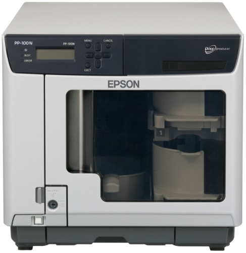 Epson Discproducer PP-100N disc publisher 50 discs Ethernet Black,Grey