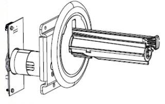 Zebra P1058930-052 pieza de repuesto de equipo de impresión Impresora de etiquetas Eje