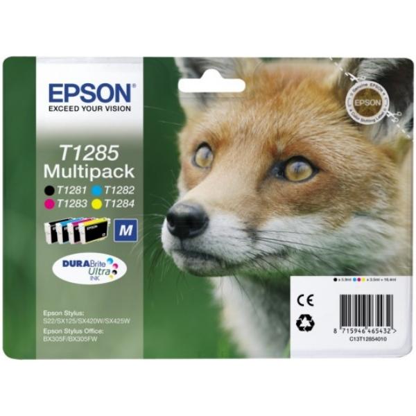 Epson C13T12854010 (T1285) Ink cartridge multi pack, 5,9 ml + 3x3,5 ml, Pack qty 4