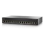 Cisco SG110-16 Unmanaged L2 Gigabit Ethernet (10/100/1000) Black