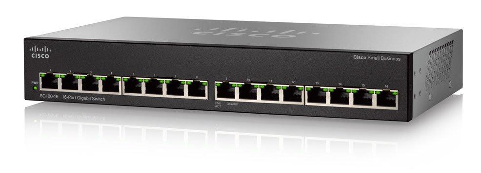 Cisco SG110-16 No administrado L2 Gigabit Ethernet (10/100/1000) Negro