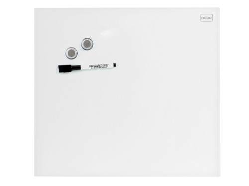 Nobo Diamond Glass Board Magnetic White 450x450mm Retail Pack
