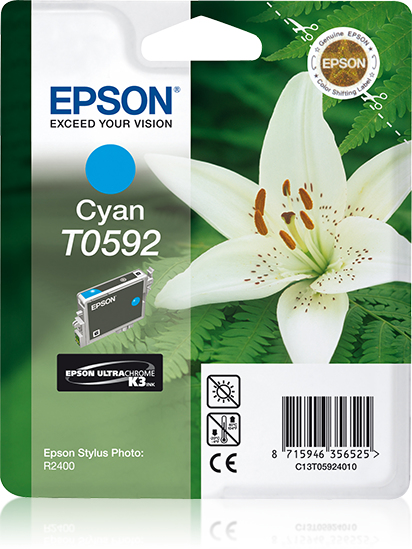 Epson Lily inktpatroon Cyan T0592 Ultra Chrome K3
