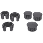 Extron Cable Cubby Hole Plug and Grommet Kit cable clamp Black 3 pcs