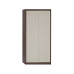Jemini 2 Door 1950mm Storage Cupboard Coffee/Cream KF08502