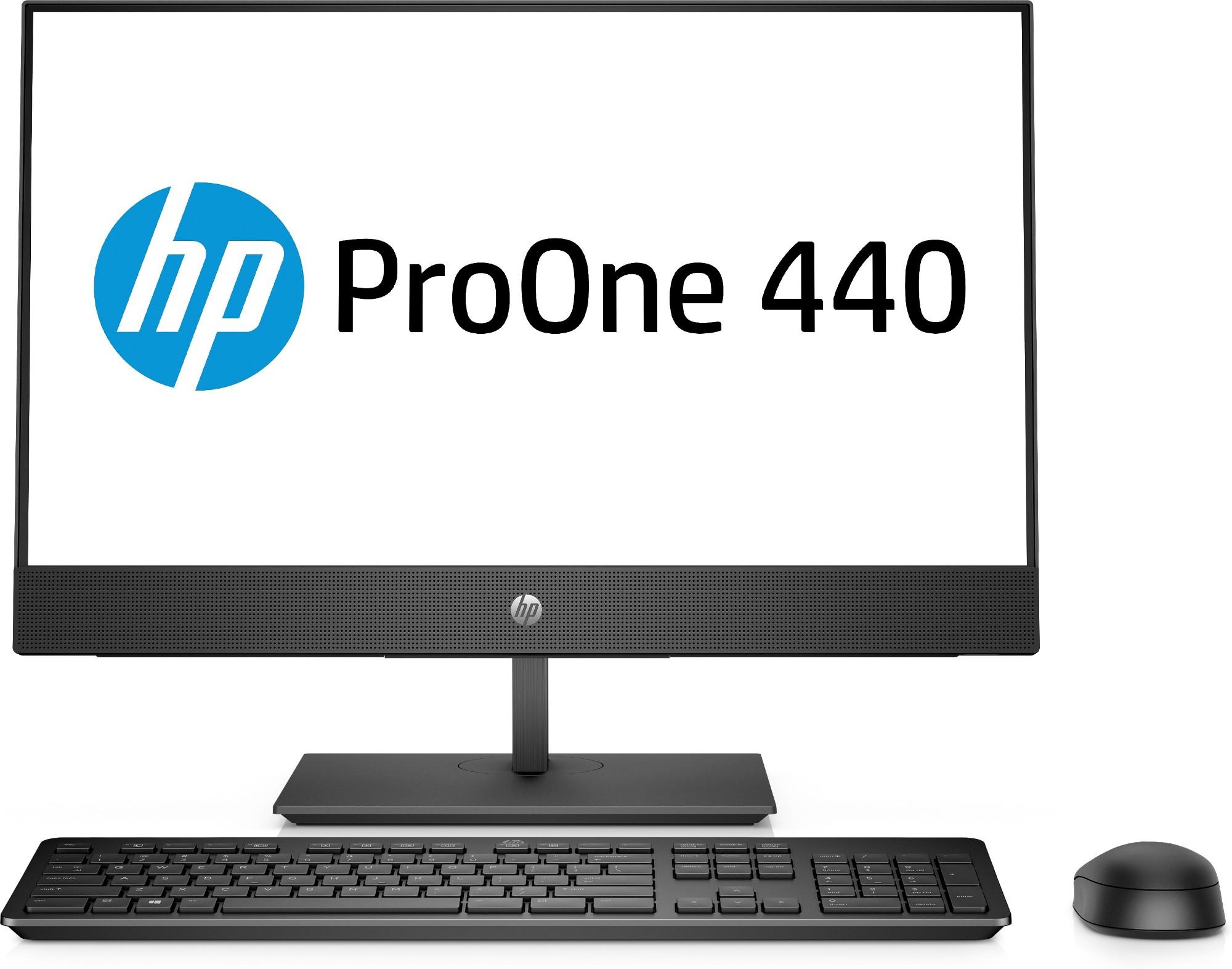 """HP ProOne 440 G4 60.5 cm (23.8"""") 1920 x 1080 pixels 8th gen Intel® Core™ i3 i3-8100T 4 GB DDR4-SDRAM 1000 GB HDD Black All-in-One PC"""