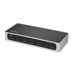 StarTech.com 7 Port USB C Hub with Fast Charge Port - USB-C to 5x USB-A 2x USB-C (USB 3.0 SuperSpeed 5Gbps) - Self Powered USB 3.1 Gen 1 Type-C Hub w/ Power Adapter - Desktop/Laptop Hub