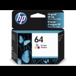 HP 64 Original Cyan,Magenta,Yellow