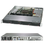 Supermicro SuperServer 5019C-MR Intel C246 LGA 1151 (Socket H4) Rack (1U) Black