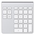 Belkin F8T068TTAPL numeric keypad Bluetooth Notebook/PC Aluminium,White