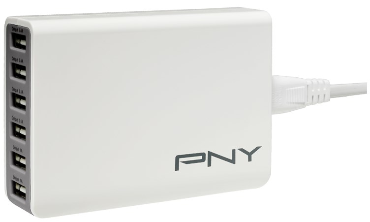 PNY P-AC-6UF-WUK01-RB mobile device charger