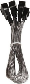 BitFenix BFA-MSC-3F33F60SK-RP cable interface/gender adapter 3-pin 3 x 3-pin Black,Silver