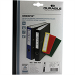 Durable ORDOFIX 60 mm self-adhesive label Black Rectangle 10 pc(s)
