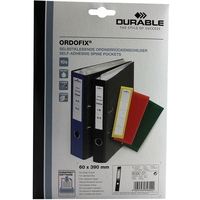 Durable ORDOFIX 60 mm Rectangle Black 10pc(s) self-adhesive label