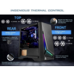 Antec DP301M mATX, ARGB Front LED, Tempered Glass Side, Up to 6x 120mm Fans, Dust Filter, Gaming Case. 2 Y