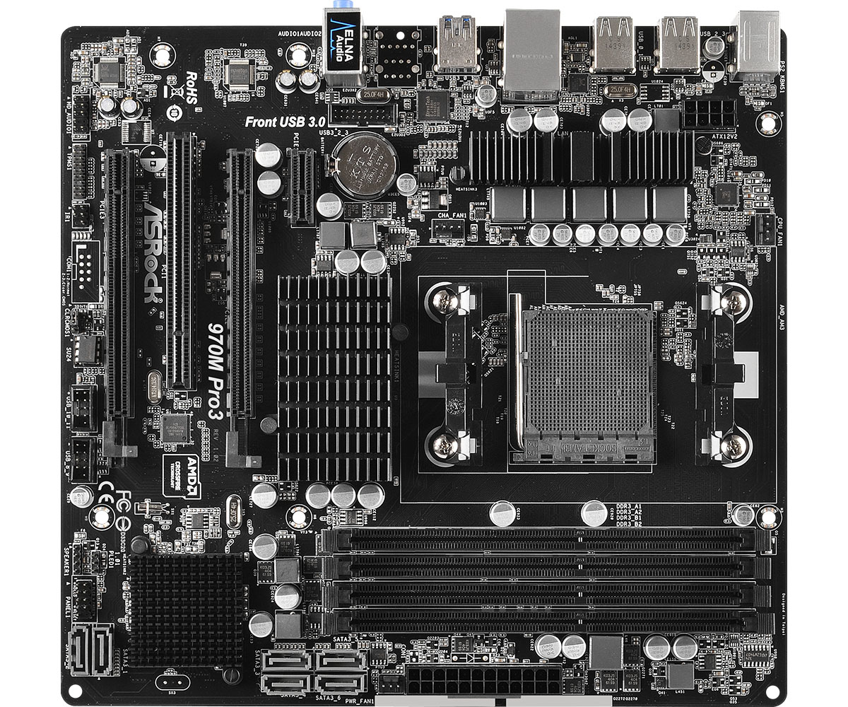 Asrock 970M Pro3 Socket AM3+ AMD 970 Micro ATX