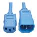 Tripp Lite Heavy-Duty Power Extension Cord, 15A, 14 AWG (IEC-320-C14 to IEC-320-C13), Blue, 1.83 m
