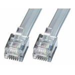 Lindy RJ-12 M/M 3.0m telephony cable 3 m Grey