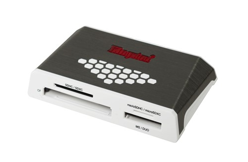 Kingston Technology USB 3.0 High-Speed Media Reader card reader Grey, White