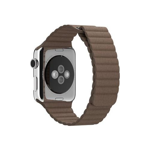 Apple 42mm Leather Loop - Medium - watch strap - light brown - for Watch (42 mm)