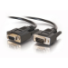 """C2G 3ft DB9 M/F Extension Cable - Black serial cable 11.8"""" (0.3 m)"""