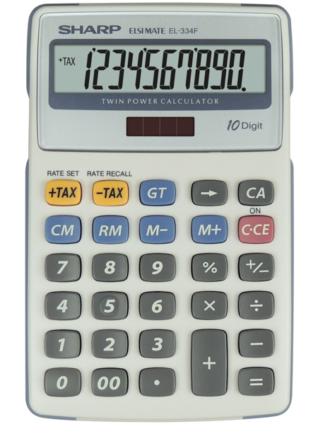 Sharp SEMI-DESK CALCULATOR SH-EL334FB
