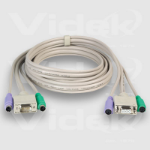 Videk SVGA/PS2 Monitor Mouse Keyboard Extension Cable Set 25m 25m KVM cable