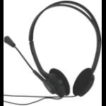 Acteck AM-370 Biauricular Negro auricular con micrófono dir