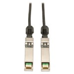 Tripp Lite SFP+ 10Gbase-CU Passive Twinax Copper Cable, SFP-H10GB-CU1M Compatible, Black, 1M