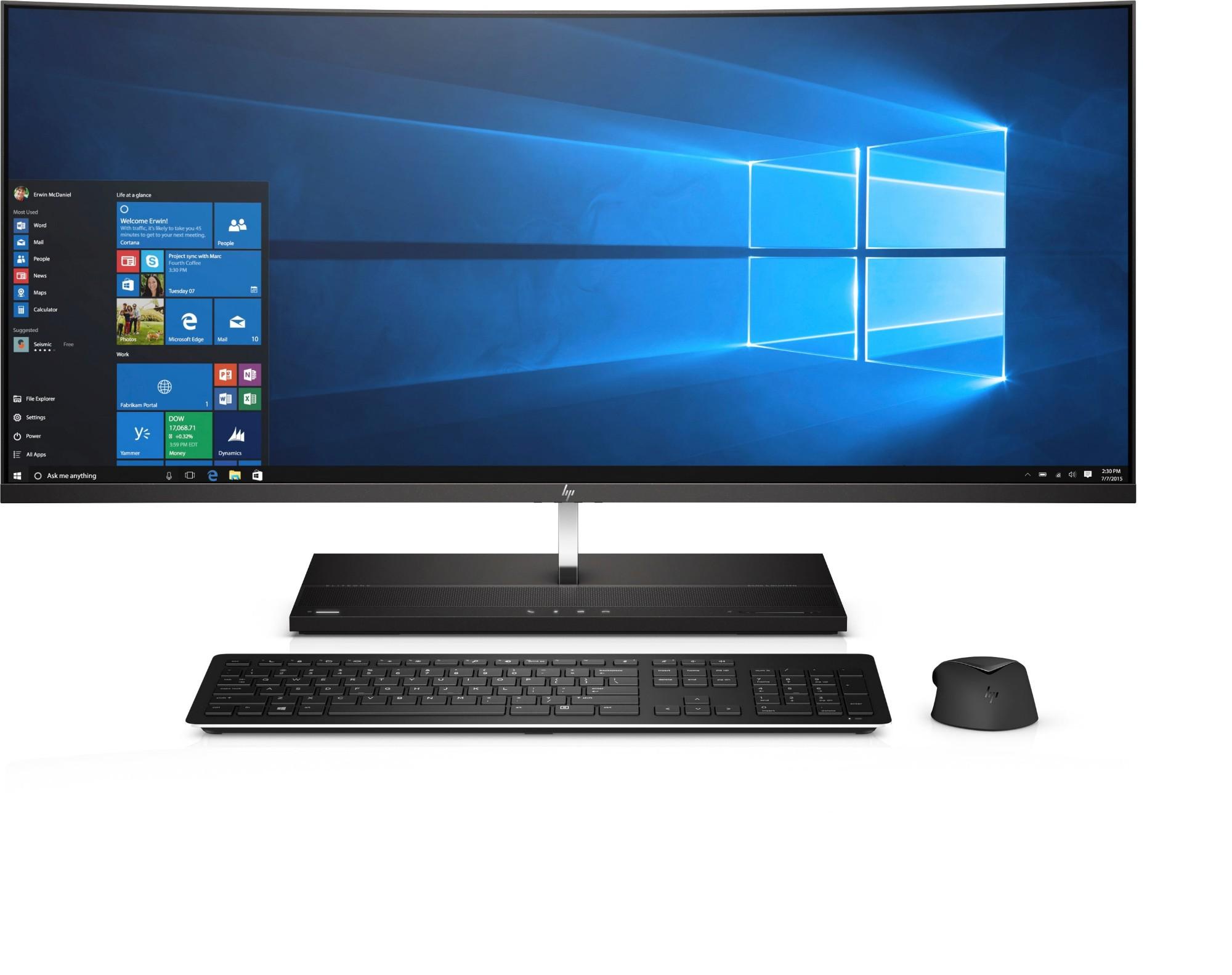 """HP EliteOne 1000 G2 86.4 cm (34"""") 3440 x 1440 pixels 8th gen Intel® Core™ i7 i7-8700 16 GB DDR4-SDRAM 512 GB SSD Black All-in-One PC"""