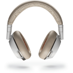 Plantronics Voyager 8200 UC mobile headset Binaural Head-band Beige, White Wired & Wireless