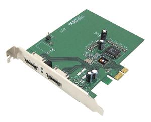 eSATA II Pci-e Pro - 2-port External SATA II (eSATA) Pci-e X1 Card