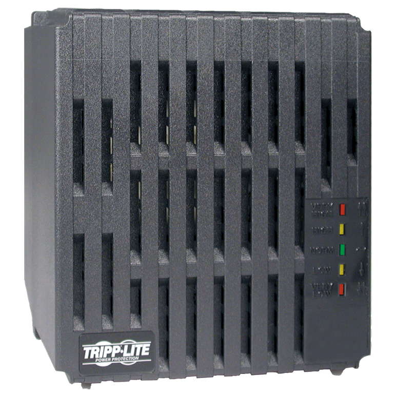 Tripp Lite 2000W 230V Power Conditioner with Automatic Voltage Regulation (AVR), AC Surge Protection, 6 Outlets, UNIPLUGINT Adapter