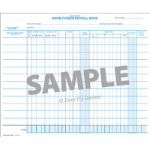 ZIONS NO.676S PAYROLL BOOK PACK 12 LINES PER PAGE