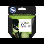 HP 304XL Tri-color Original Cian, Magenta, Amarillo