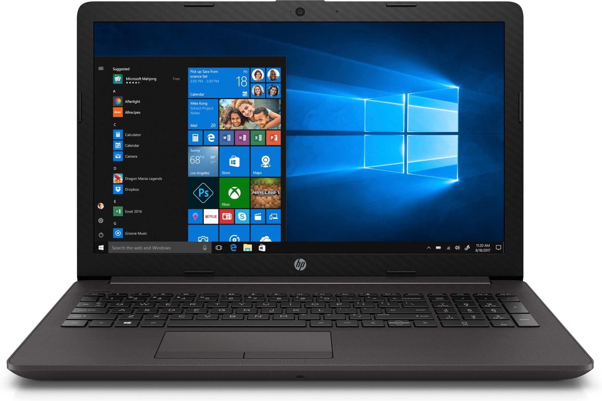 "HP 255 G7 Notebook Black 39.6 cm (15.6"") 1920 x 1080 pixels AMD Ryzen 3 8 GB DDR4-SDRAM 256 GB SSD Wi-Fi 5 (802.11ac) Windows 10 Home"