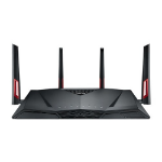 ASUS RT-AC88U wireless router Dual-band (2.4 GHz / 5 GHz) Gigabit Ethernet 3G 4G Black, Red