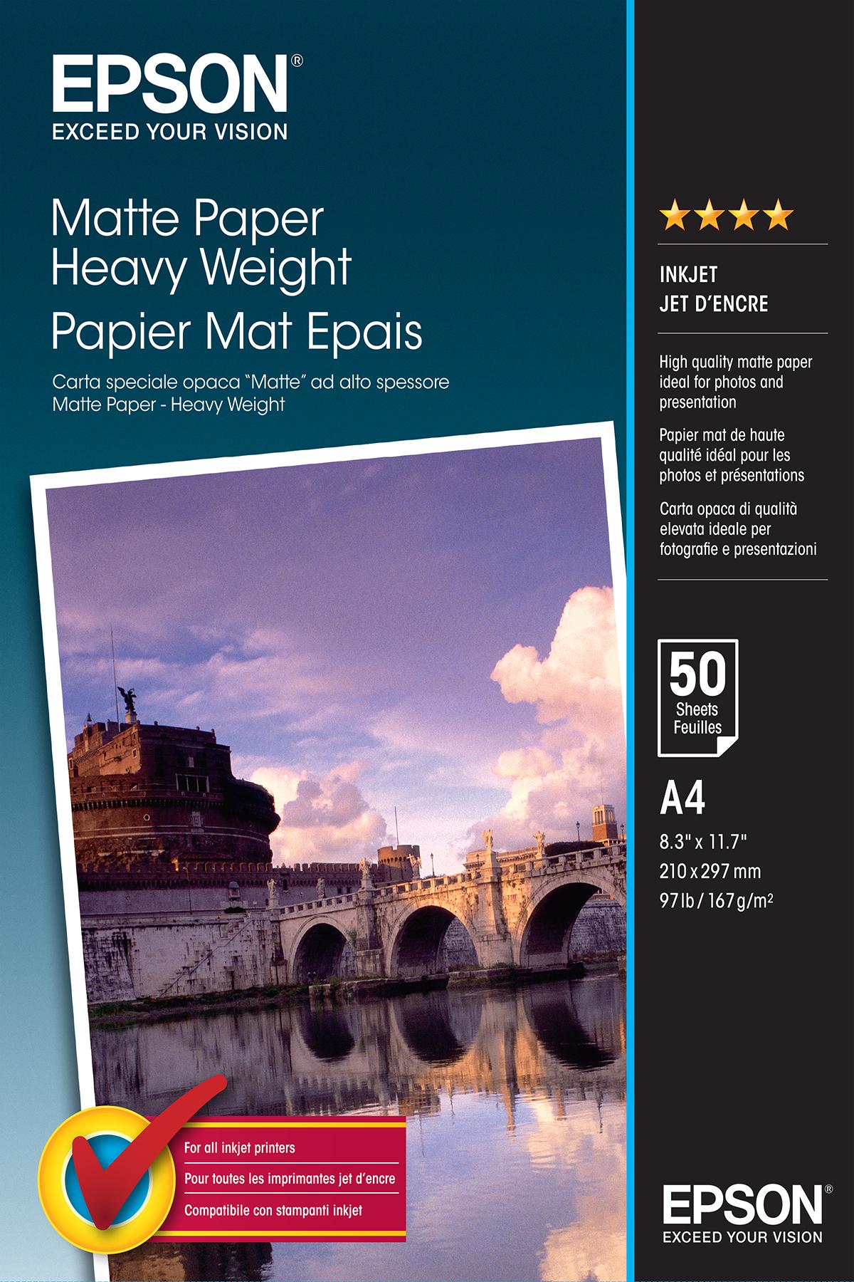 Epson Matte Paper Heavy Weight - A4 - 50 Vellen
