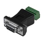 StarTech.com RS422 RS485 Serial DB9 -> Terminal Block Adapter Zwart