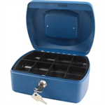 Q-CONNECT KF02623 Blue cash/ticket box