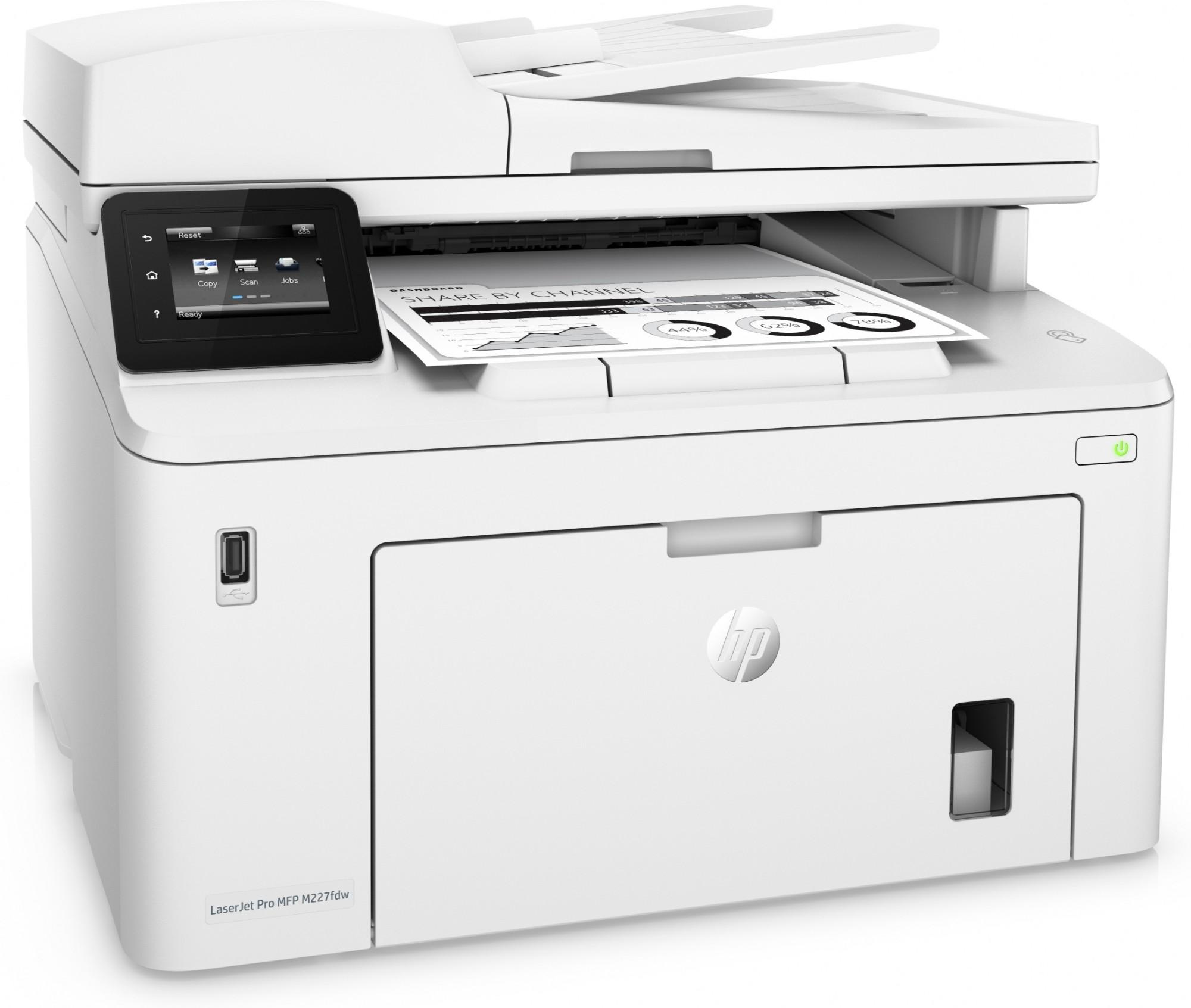 HP LaserJet Pro M227fdw Laser 28 ppm 1200 x 1200 DPI A4 Wi
