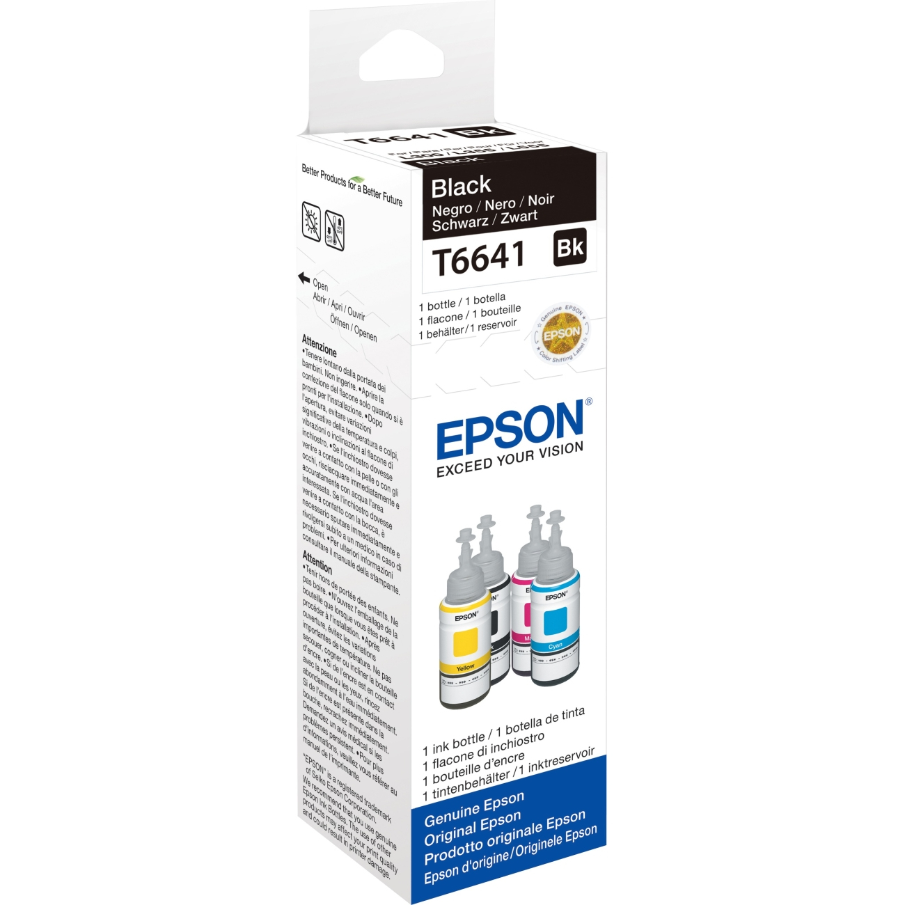 Epson T6641 - 70 ml - black - ink refill - for EcoTank ET-14000, 2500, 2550, 4500, L475, L565, L575, Expre