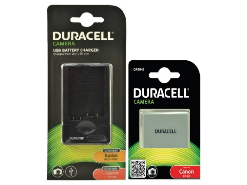 Duracell Bundle - replaces Canon LP-E8 Battery/Charger