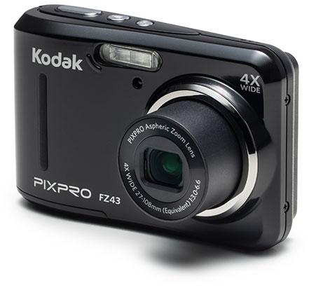 """Kodak PIXPRO FZ43-BK Compact camera 16.15MP 1/2.3"""" CCD 4608 x 3456pixels Black compact camera"""