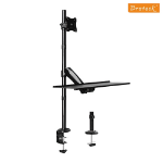 Brateck Single Monitor Sit-Stand Workstation for 13'-27' LCD Monitors and Screens