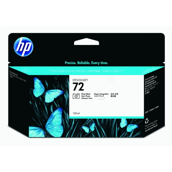 HP C9370A (72) Ink cartridge black, 130ml